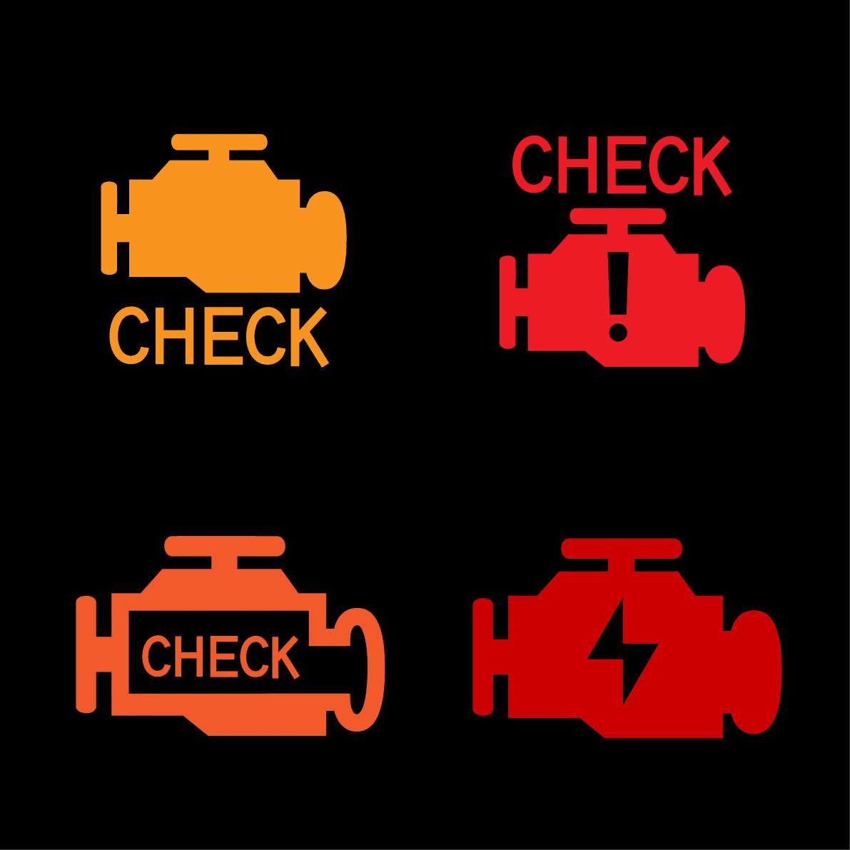 Iconos de Check Engine que pueden aparecer en los vehículos