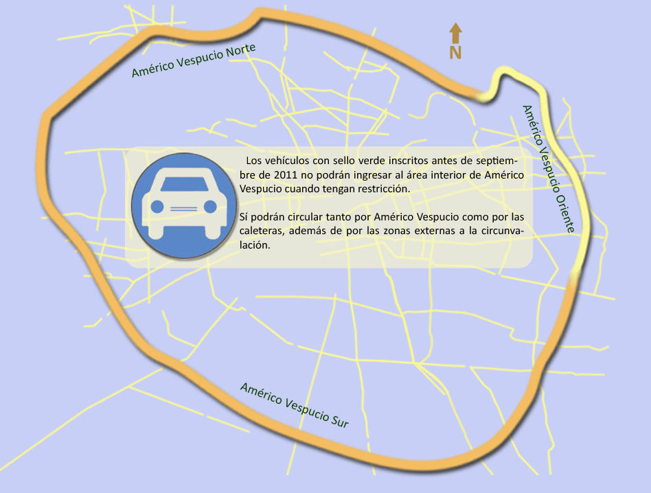 Restricción vehicular Santiago 2018