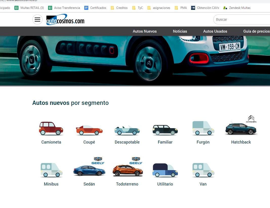 Autocosmos.com es la página más completa para comparar precios y características entre autos