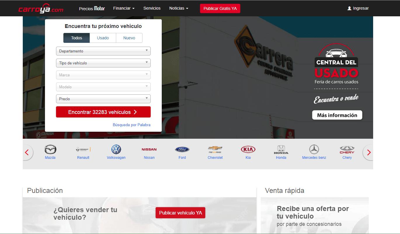Carroya es un portal para buscar autos usados