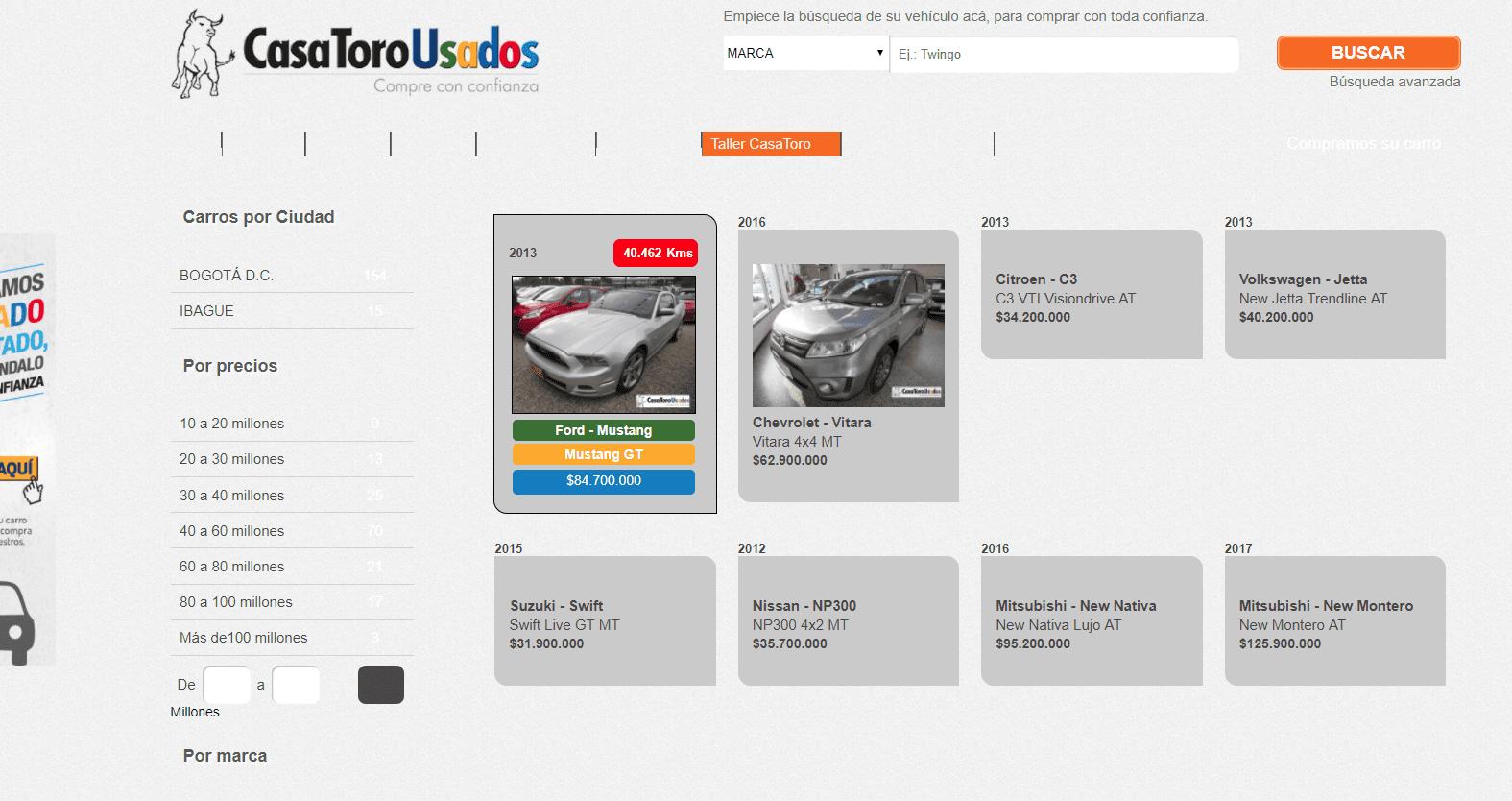 CasaToro uno de los mejores concesionarios de autos usados en Colombia