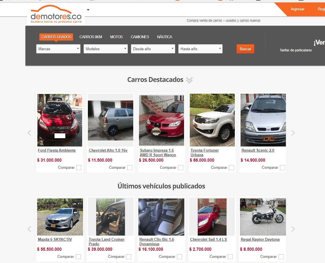 Demotores, un portal para revisar autos usados