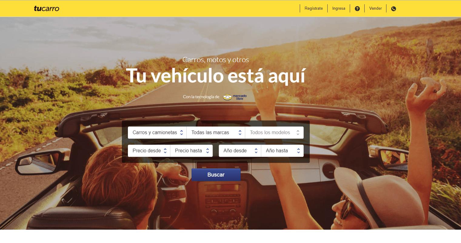 Tucarro, portal web para buscar autos usados
